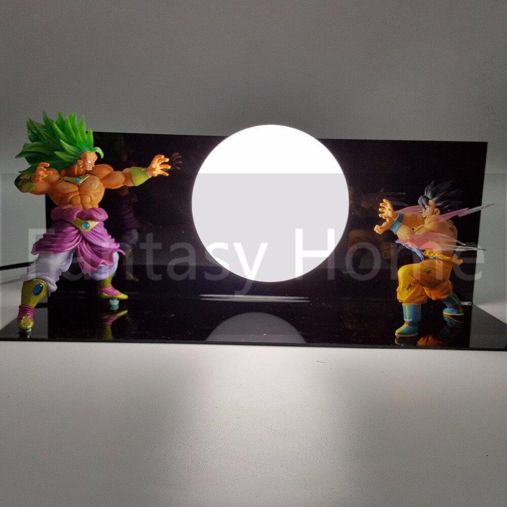 Dragon Ball Z Action Broli VS Goku Fighting DIY Display Set Figurine Cool Dragon Ball Son Goku Broly+Ball+Stand (Fire) DBZ DIY44 набор для битв dragons toothless vs dragon catcher