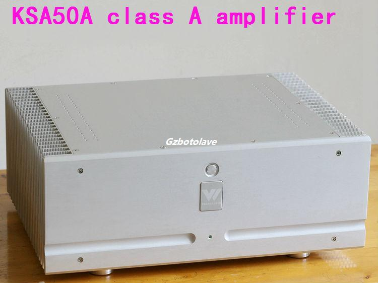 Latest Class A power amplifier A50 ON tube MJL4281/MJL4302 parallel HiFi Stereo Power Amplifier 100W+100W free shipping czh618f 100c 100w 2u fm stereo radio transmitter exciter power adjustable from 0 to 100w