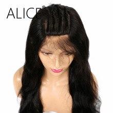 Алиса не Реми бразильский волос 5*4.5 из алмазного шелка База полный Кружево Человеческие волосы Искусственные парики с ребенком волос естественной Цвет Для тела волна Кружево Искусственные парики