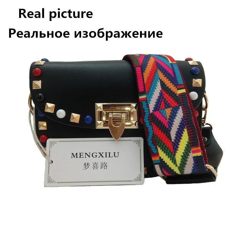 Remache Mini PU Bolsos Crossbody de cuero para las mujeres famosas - Bolsos - foto 6