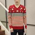 Sweater Men 2017 New Brand Autumn Winter Round Collar Knitted Pull Homme Plus Size Pullovers stripe Slim leisure men's clothing