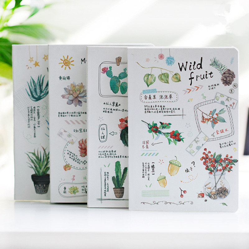 Nature Plants Cute Journal Notebook Beautiful Diary Freenote Daily Planner Note Study Notepad pink pineapple cute notebook diary hand memo study journal coil spiral notepad