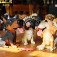 DMLS Birthday Gift Dog Figurines Pup Ornaments Kid Toy Lovely Resin Dolls Cute Dog Home Decoration