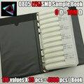 New 0805 SMD Resistor Sample Book 1% Tolerance 170valuesx25pcs=4250pcs Resistor Kit 0R~10M