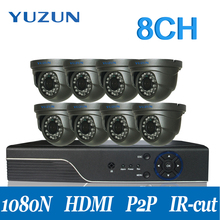 AHD cctv system 8channel dvr with eight digital camera infrared night time imaginative and prescient monitor safety CCTV digital camera swimsuit for indoor outside