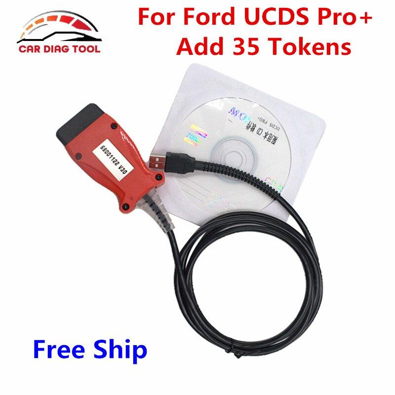 Цена за Высокое качество для ford ucd Pro + полный лицензии Программное обеспечение V1.26.008 с 35 маркеры для ford ucdsys 2004-2005 Diagnositc инструмент