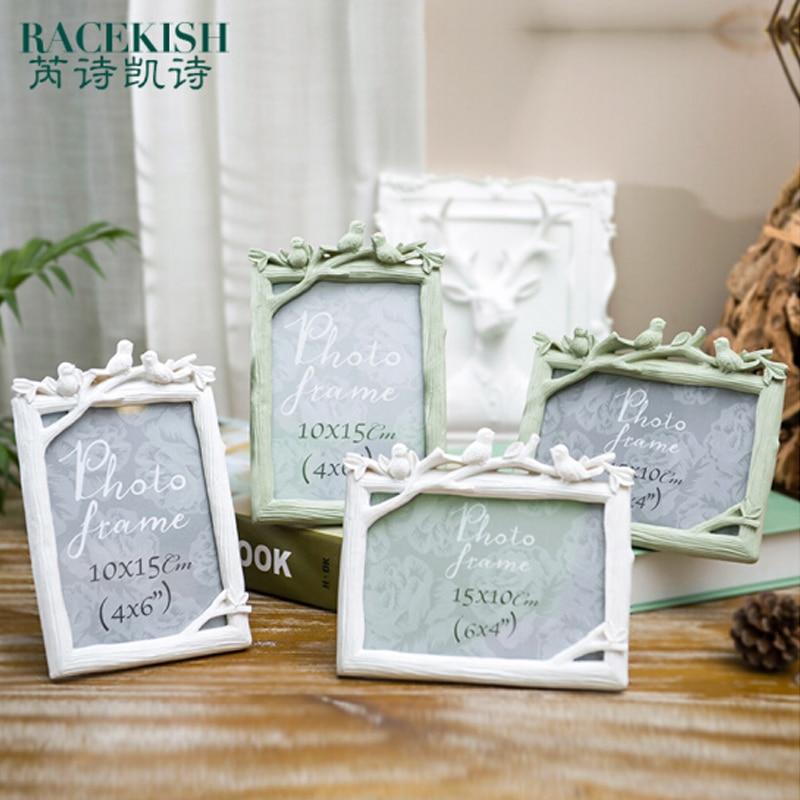 Europe resin vintage birds decorative photo frame picture frame holder for desk home decor photo - Decorative articles for home decor ...