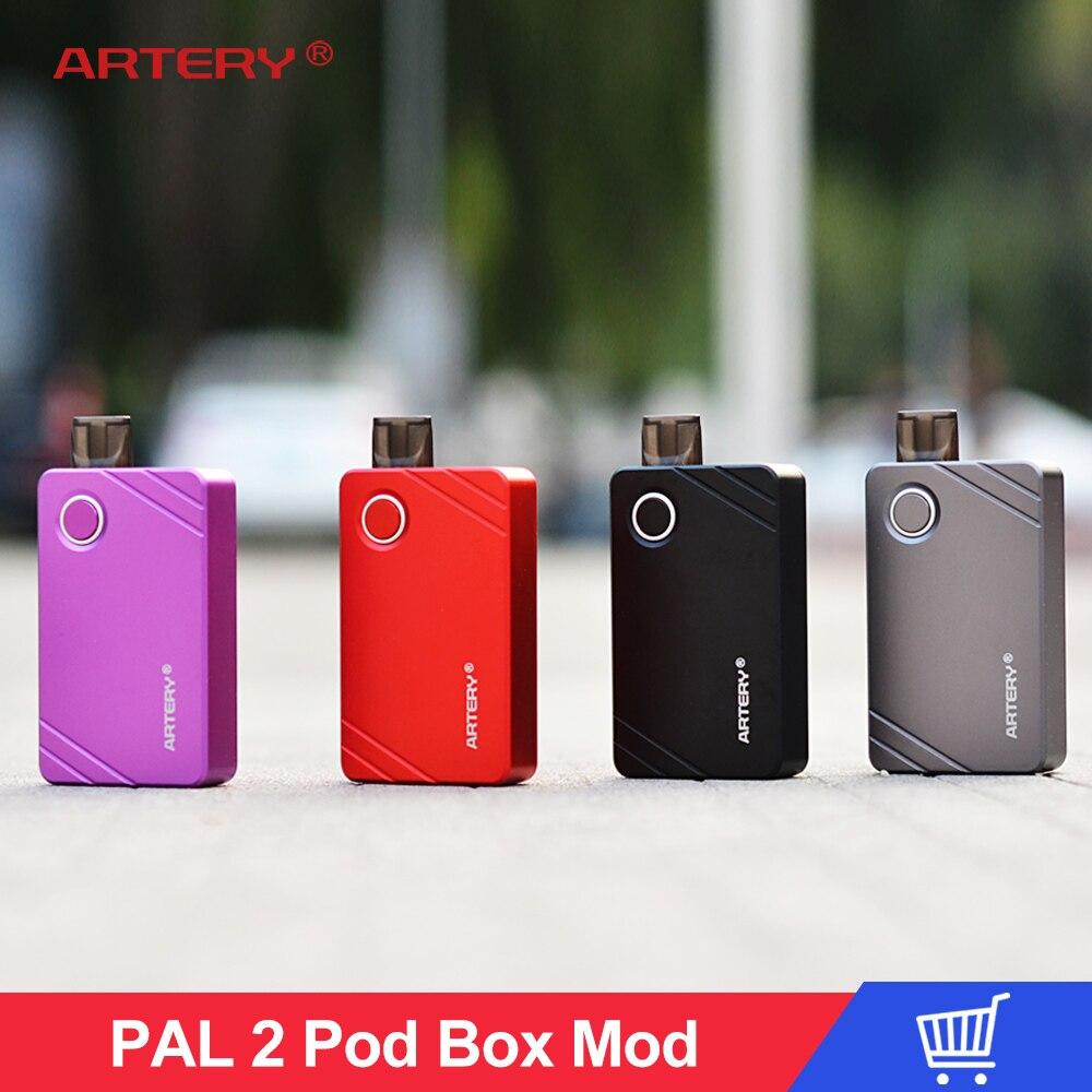 E Kit de cigarettes Artère Vaporisateur Pal 2 II Pod Système Kit de Démarrage avec 1000 mah Construire-dans la batterie 2 ml /3 ml MTL et Maille Bobine Boîte Mod