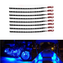 8Pcs 12V 12  15 LED Flexible Waterproof Strip Light for Car Motor Vehicle