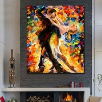Man With Women Dance Sexy Painting Modern Canvas Art Home Decoration Wall Art Painting Living Room Wall No Framed