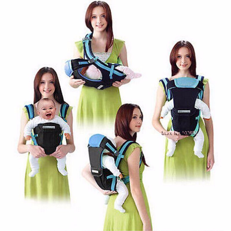 0-30 Months Breathable Front Facing Baby Carrier 4 in 1 Infant Comfortable Sling Backpack Beige One size 2