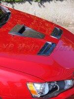 Автомобильные аксессуары из углеродного волокна CS Стиль вентиляция в капоте 2 шт подходит для 2008 2012 evotion EVO X EVO 10 вентиляция в капоте s