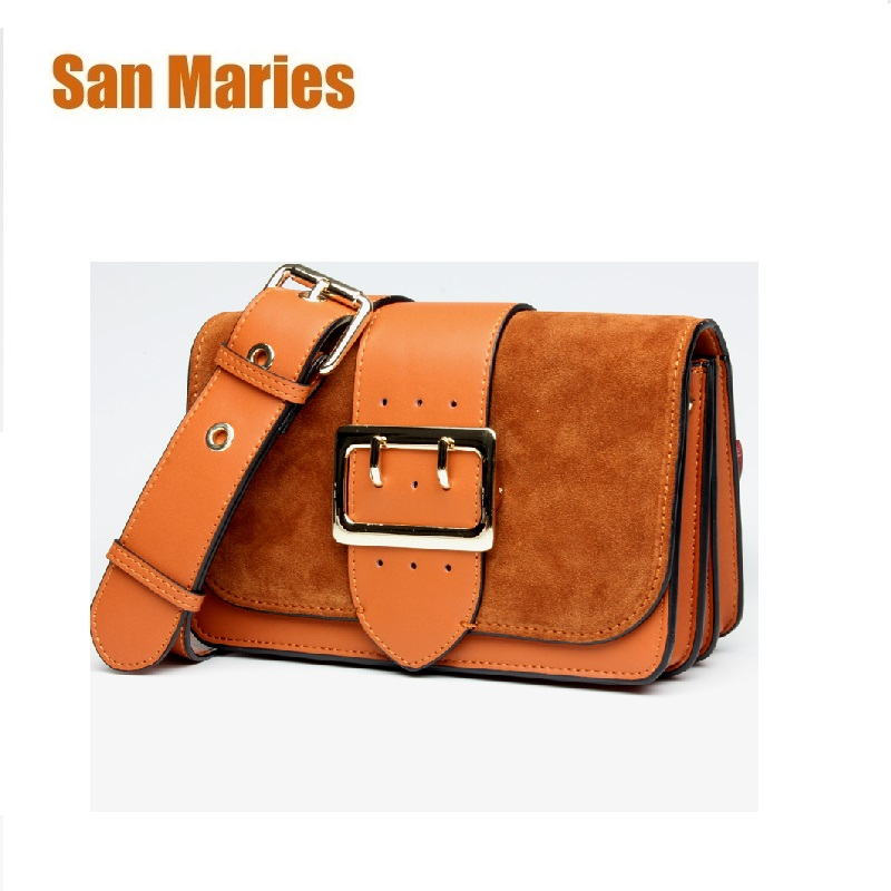 San Maries Real Genuine Leather Shoulder Bags Hot Sale Popular Fashion Women Messenger Bag High Quality Real Cowskin Small Bag цена и фото