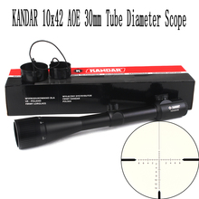 KANDAR 10x42 AOE Glass Reticle Red Illuminated RifleScope Fixed Magnification 10x Hunting Rifle Scope Tactical Optical