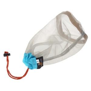 Image 2 - Сверхлегкий сетчатый мешок для хранения вещей на шнурке, чехол для наушников, кейс для тавиллинга, кемпинга, спорта, Большой/средний/маленький размер