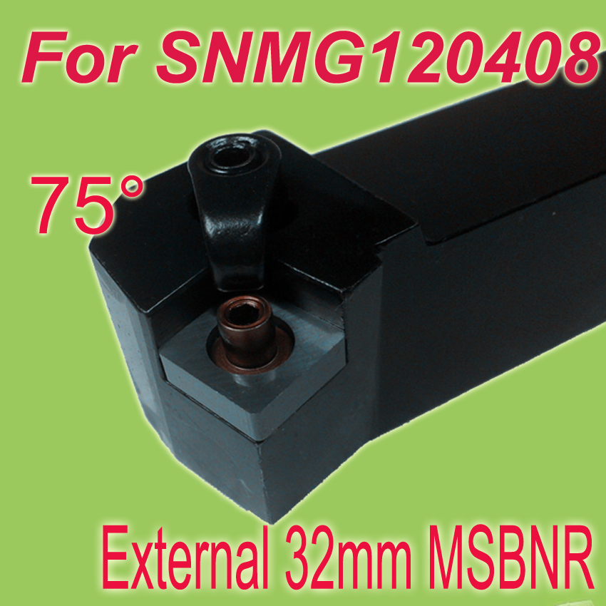 Free Shiping MSBNR 32*32*170 SHK 1-1/4'' 75 Degree External Turning Lathe Bar Tool Holder For SNMG free shipping p type cnc tool cutter pclnr 2020k12 external turning tool holder blade lathe cutters
