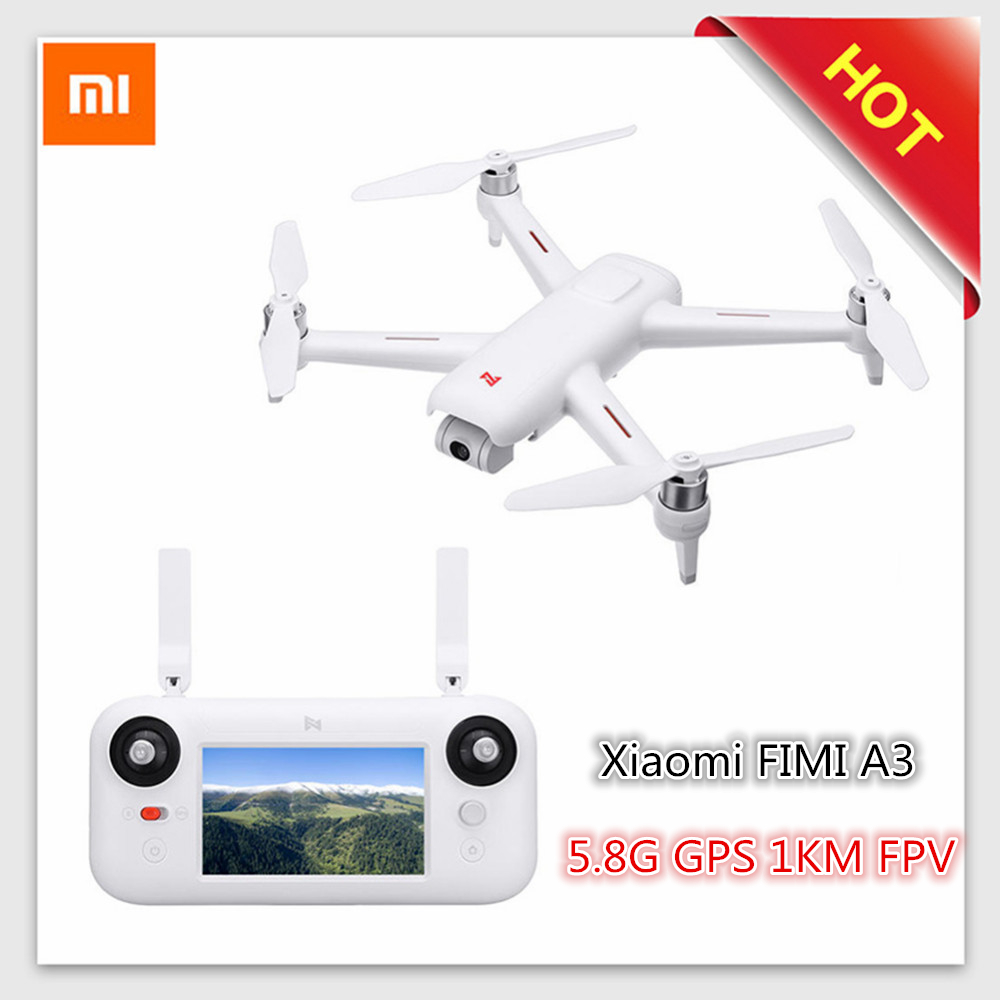 Original Xiaomi FIMI A3 5.8G 1KM FPV Professional RC Drone With 2-Axis Gimbal HD 1080P Camera GPS Quadcopter RTF Racing Models original xiaomi mi drone wifi fpv with 1080p camera 3 axis gimbal rc xiaomi quadcopter rtf