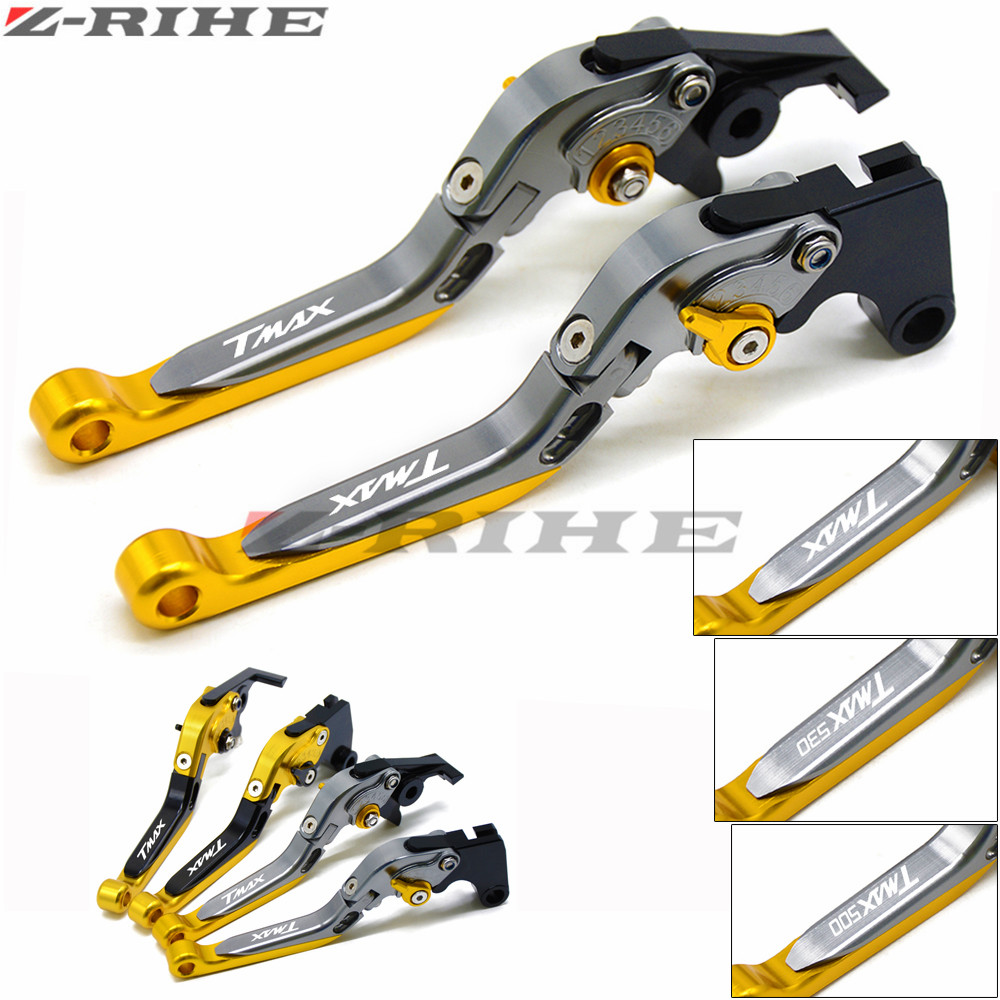 For YAMAHA Motorcycle Accessories Folding Extendable Brake Clutch Levers tmax 500 T MAX 500 2001-2007 2002 2003 2004 2005 2006 folding extendable brake clutch levers for yamaha tdm 900 2006 2007 2008 2009