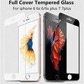 0.26mm 2.5d 9 h completa cobertura da tampa de vidro temperado para iphone 6 6 s plus protetor de tela película protetora para o iphone 7 7 além de