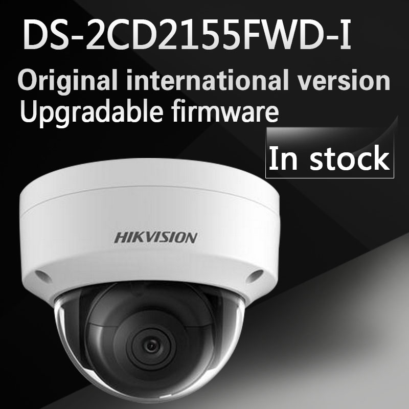 In stock english version Free shipping DS-2CD2155FWD-I 5MP Network Dome Camera 120dB Wide Dynamic Range free shipping in stock new arrival english version ds 2cd2142fwd iws 4mp wdr fixed dome with wifi network camera