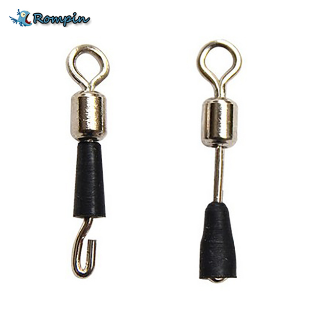 Rompin 30pcs/lot Ball Bearing Swivel Solid Rings Fishing Connector Ocean Boat Fishing Hooks quick fast link connector