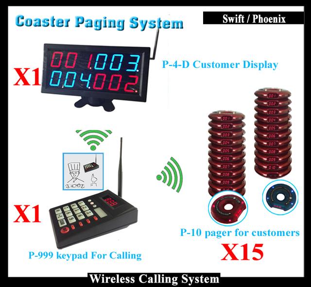 K-4-D Número Sem Fio Led Display e Teclado Numérico e Coaster Pager para o Restaurante Fast Food Sistema de Chamada Sem Fio