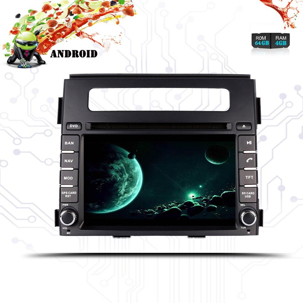 Per Kia Soul 2011 2013 HD 1024*600 Car multimedia navigazione gps audio video a/v dvd sistema di intrattenimento con il migliore android 9.0 - 4
