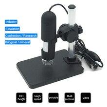 все цены на UANME Portable USB Digital Microscope 1000X 8 LED 2MP Digital Microscope Endoscope Magnifier Camera+Lift Stand+Calibration Ruler онлайн