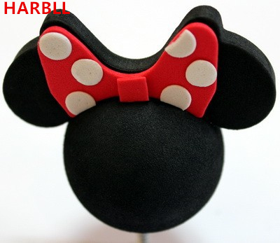 HARBLL Magic Mickey Minnie Mouse Antenna Ball Aerial Topper Balls Toppers Cartoon Car Roof Decoration For Cars eva foam honeybee style car decoration antenna ball black yellow