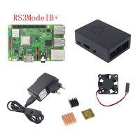 UK Raspberry Pi 3 Model B Board Aluminum Heat Sink Raspberry Pi 3 ABS Case Box