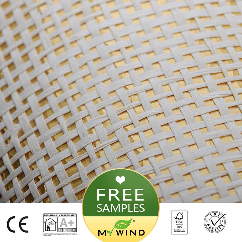 2019 MY WIND Golden Thread Luxury Wallpaper Paper Weave Grasscloth 3D Wallpapers Designs European Vintage Wall Papers Classic