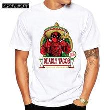 fe181fda6 Deadly Tacos funny printed Men t-shirts short sleeve casual basic tops  hispter Star Wars Deadpool tee shirts