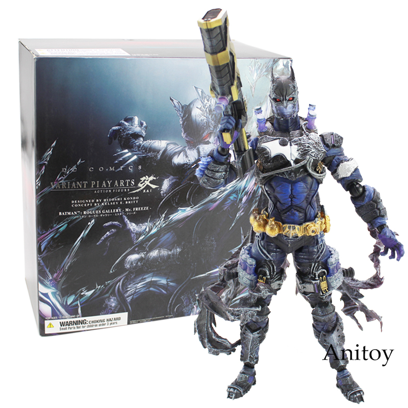 DC Cmoics VARIANT Play Arts Kai Batman Rogues Gallery Mr. Freeze PVC Action Figure Colectible Toy 26.5cm gogues gallery two face batman figure batman play arts kai play art kai pvc action figure bat man bruce wayne 26cm doll toy