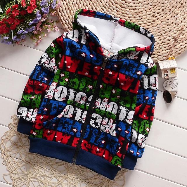 Novos Meninos Primavera Hoodies Moda Velo Hoodies Crianças Inverno Quente Bonito Primavera Camisolas Dos Miúdos Outono Meninos Casaco E Coletes