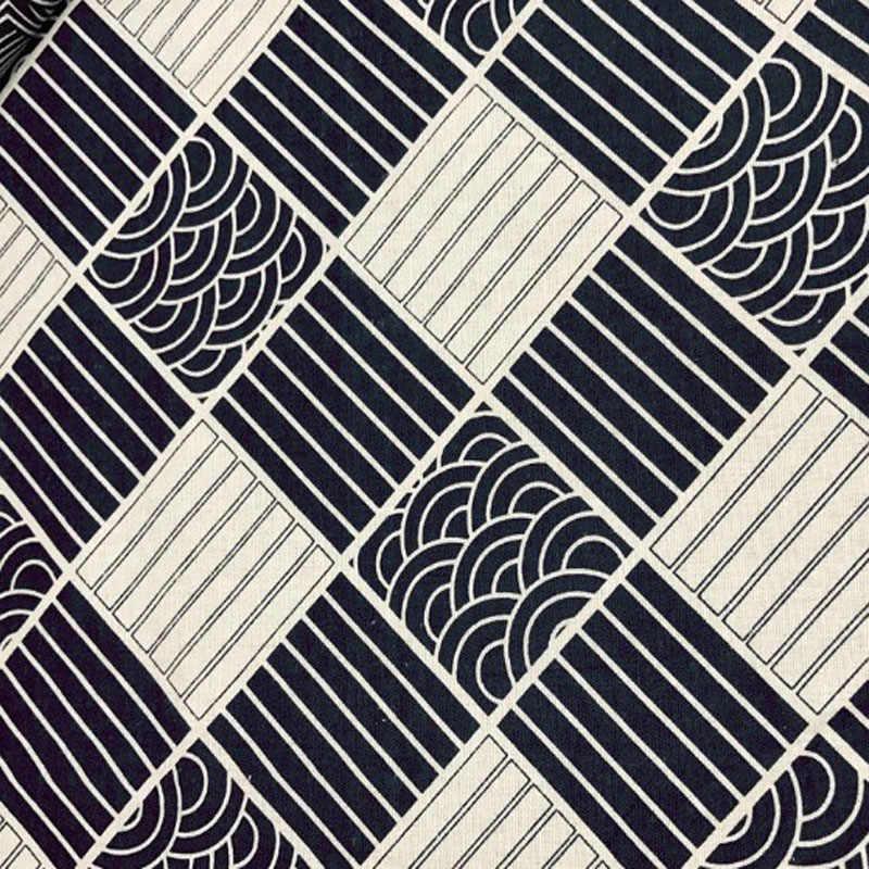 3 تصاميم 6 قطع 22x24 سنتيمتر اليابانية كيمونو نمط القطن الكتان النسيج حزمة ل diy الخياطة زينة