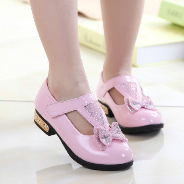 Aliexpress.com : Buy New arrival girls high heel shoes girl lather ...