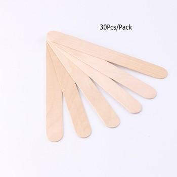 30 sztuk jednorazowe drewniane woskowanie wosk szpatułki 6 #8222 depilacja Stick aplikatory profesjonalne spa dla twarzy szpatułka do uciskania języka narzędzie WS03 tanie i dobre opinie MANZILIN Kobiet Other Wood Krem do depilacji Wood stick Hair removal 10pcs 30Pcs