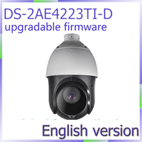 Free Shipping DS 2AE4223TI D English Version HD1080P Turbo IR PTZ Dome Camera 23x Optical Zoom