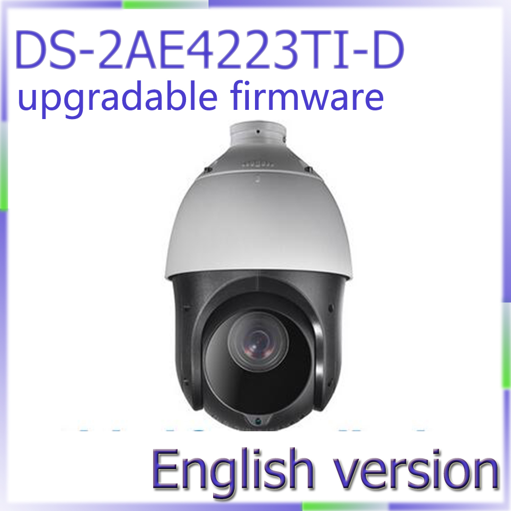 Free shipping DS-2AE4223TI-D English version HD1080P Turbo IR PTZ Dome Camera 23x optical zoom and 100m IR free shipping english version ds 2de7230iw ae 2mp network cctv ptz camera poe with 30x optical zoom 150m ir ip66 h 265