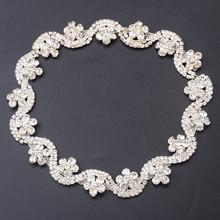 Diamante crystal rhinestone decorative chain,flower S shape cupchain,rhinestone trimming applique belt diy