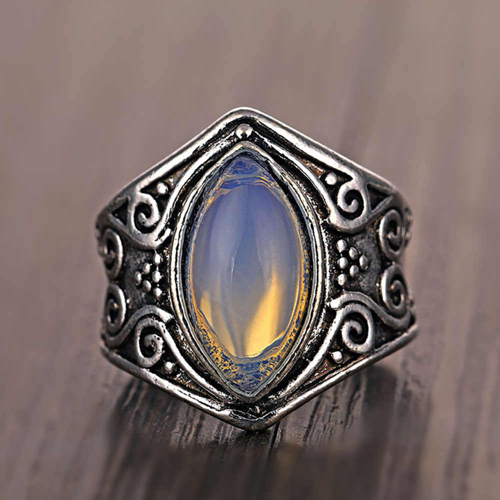 Ailend Европейская и американская мода кольцо Луна камень Поп кольцо в стиле ретро леди девушка модное кольцо 2019 вечерние подарок