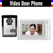 7 inch video door phone doorbell System Video intercom interphone kit IR Night Vision Waterpro 1 Monitor 1 Door Camera for villa