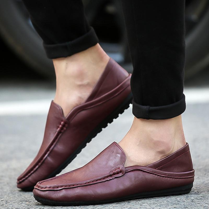 Sports Driving Shoes Men's Flat Non-slip Casual Shoes Italian Flat Shoes 2019 Korean Version Of Men's Pea Soft Shoes Sneakers