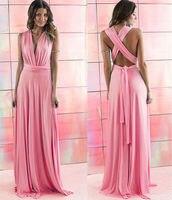 2016 Summer Sexy Women Peach Infinity Maxi Wrap dress Long Gown Dress Multiway Bridesmaids Convertible Dress robe longue femme