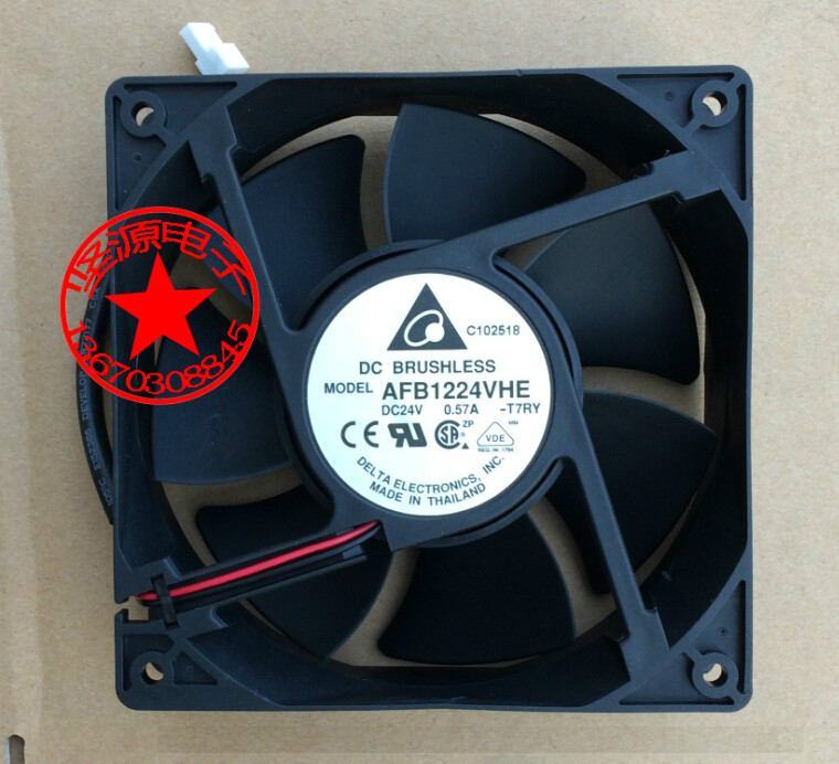 Free Shipping AFB1224SVHE, -T7RY DC 24V 0.57A 2-wire 2-pin connector 50mm 120x120x38mm Server Square Cooling Fan джон ли хукер john lee hooker cook with the hook 2 cd dvd