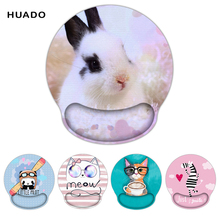 купить Cartoon design Mouse pad wristband hand support office mouse pad thickening girls 3d cute wrist rest ergonomic mouse pad дешево