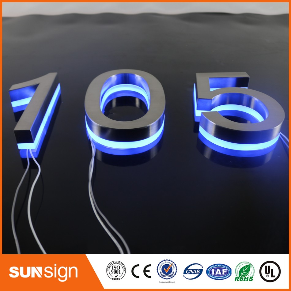 US $303.16 |Beautiful Entrance Gate Accessories LED House Numbers and  letters & Apartment LED Numbers and letters size H250mm-in Electronic Signs  from ...