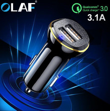 Olaf 5V 2 4A Dual USB Car Charger For Phone Mobile Phone Charger For iPhone Samsung Fast USB Charger Adapter For Car For Tablets cheap MEIZU Xiaomi Nokia SONY Motorola Blackberry Lenovo Huawei APPLE Universal ROHS Car Lighter Slot 12-24V 2 4A Car-charger Mobile Phone Charger