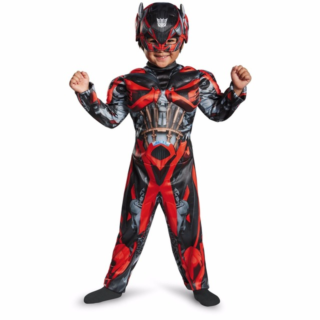 Stinger Child Muscle Transformers Costume Fantasy Halloween Costumes for Kids Boy Superhero Party Supply