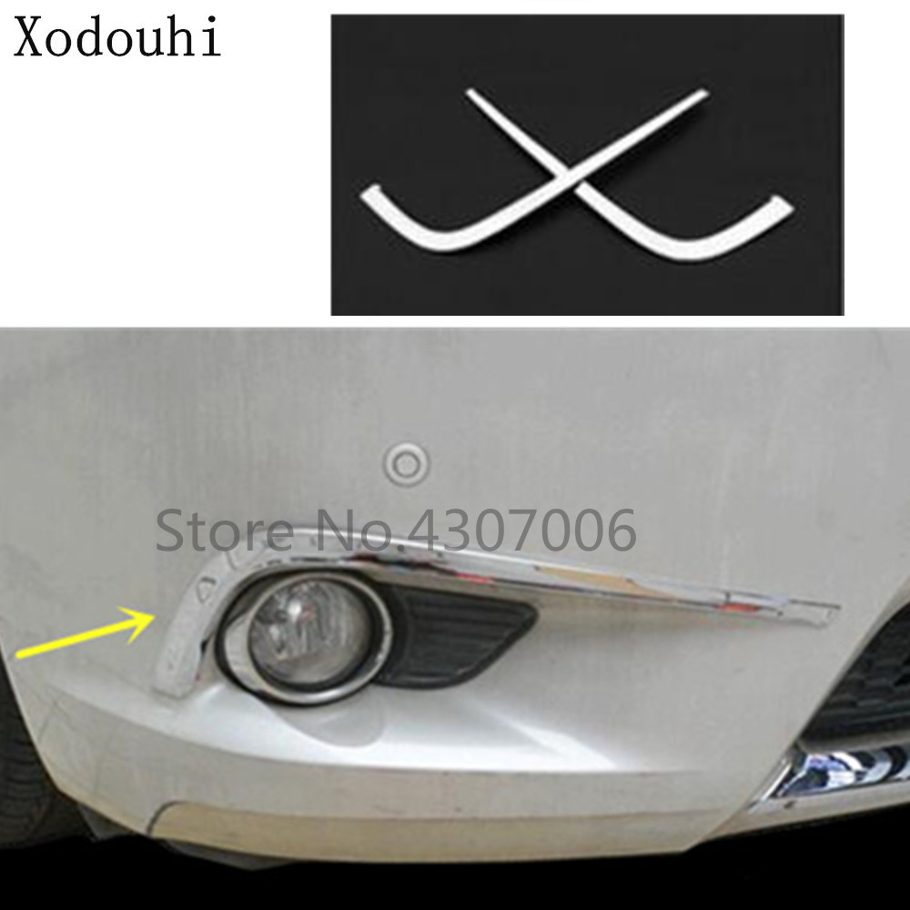 Car body head front fog eyebrow trim light font b lamp b font frame stick ABS